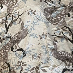 DwellStudio peacock duvet set
